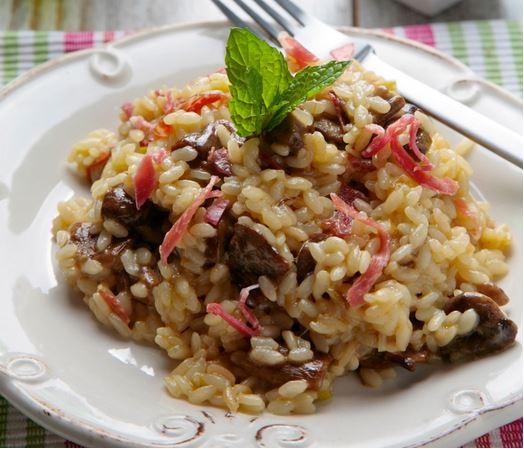 receta ybarra risotto de boletus y jamon iberico