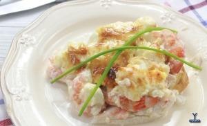 receta Ybarra de merluza rellena de marisco