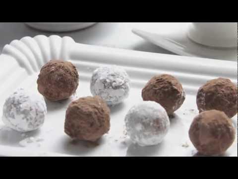 Trufas de chocolate y AOVE