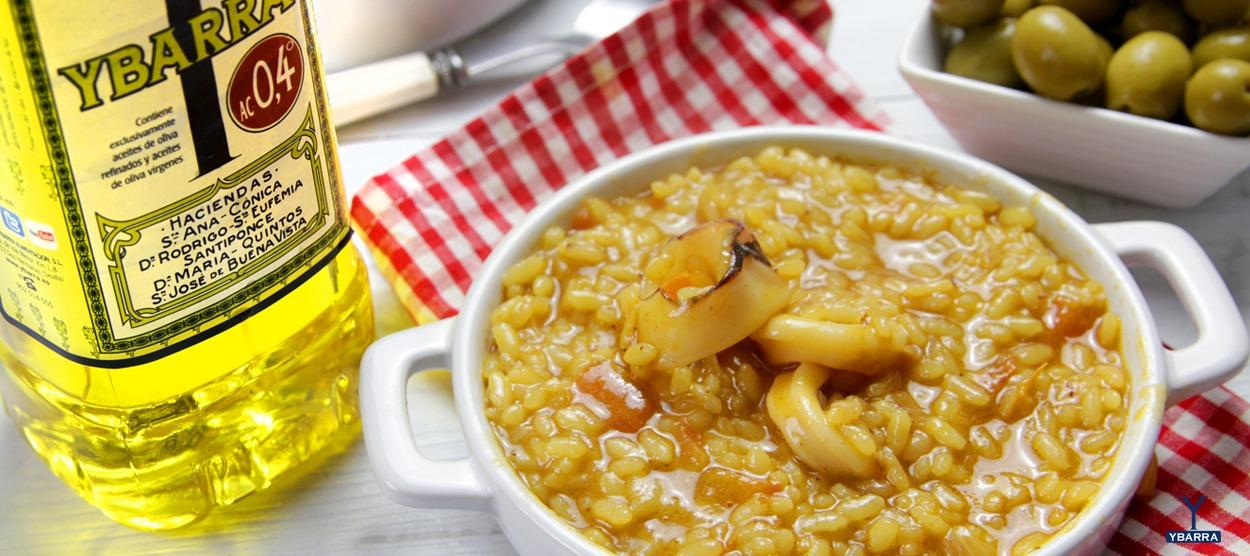 receta ybarra de arroz meloso con calamares