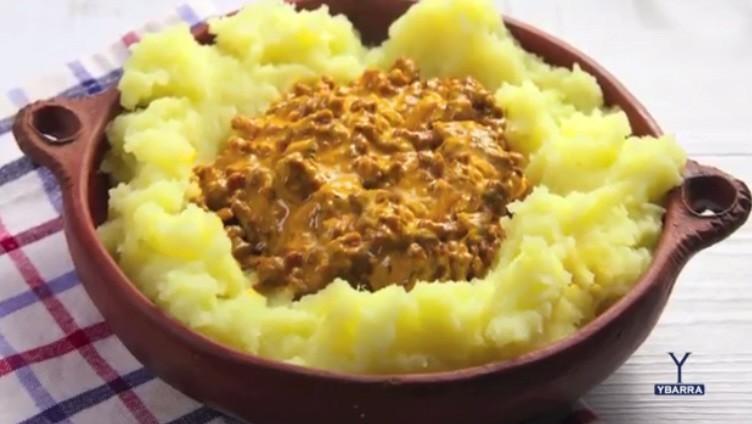 Pastel de Patata y Carne a la Salsa Gaucha Ybarra