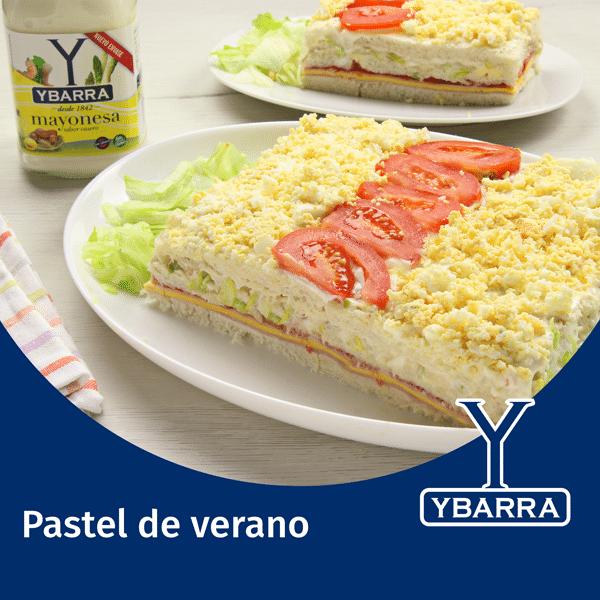Pastel de Verano con Mayonesa Ybarra