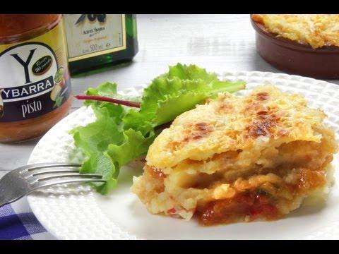 Pastel de Patata, Atún y Pisto Ybarra