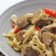 wok de ternera y fideos de arroz ybarra