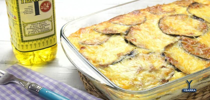 receta Ybarra de pastel de berenjena aceite suave ybarra