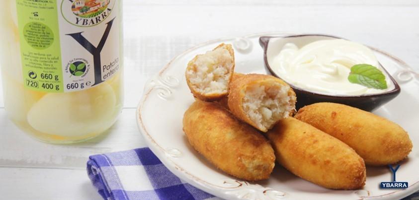 croquetas de patata y atun ybarra