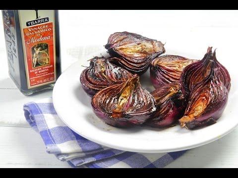 Cebollas Asadas con Vinagre Balsámico Ybarra