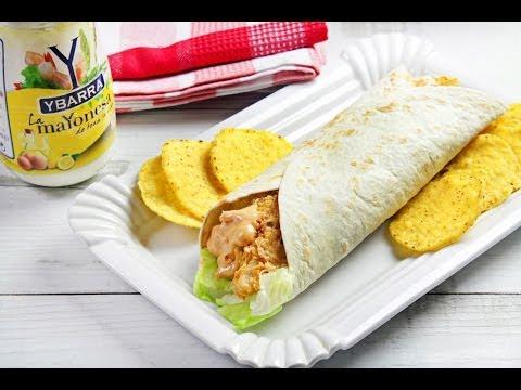 Taco crujiente de pescado y Mayonesa Ybarra al picante