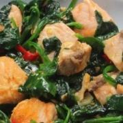 receta yarra de salmón con espinacas