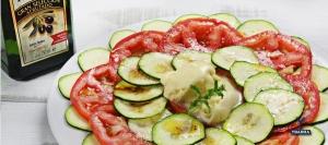 recetas ybarra carpaccio de calabacin con helado de aove ybarra