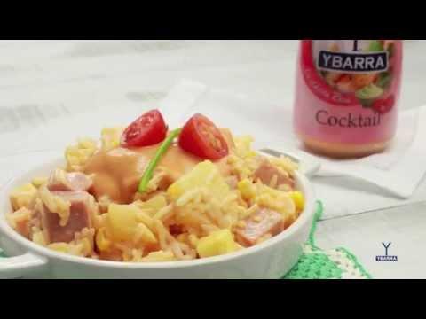 Ensalada de arroz y salsa cocktail Ybarra