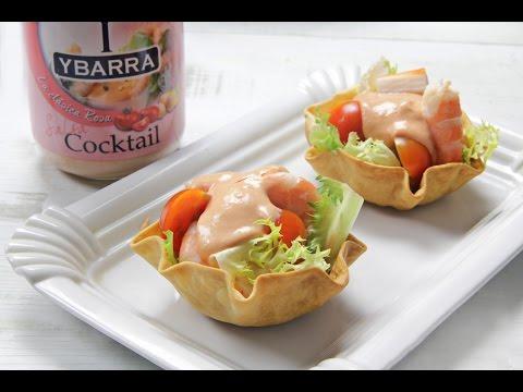 Cestitas de Cocktail de Marisco