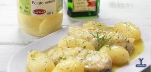 merluza sidra con patatas ybarra