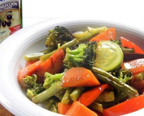 verduras con aceite de oliva