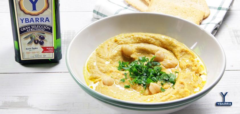 Hummus de calabaza con viirgen extra ybarra