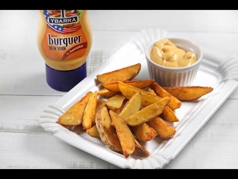 Patatas gajo con salsa Burguer New York Ybarra
