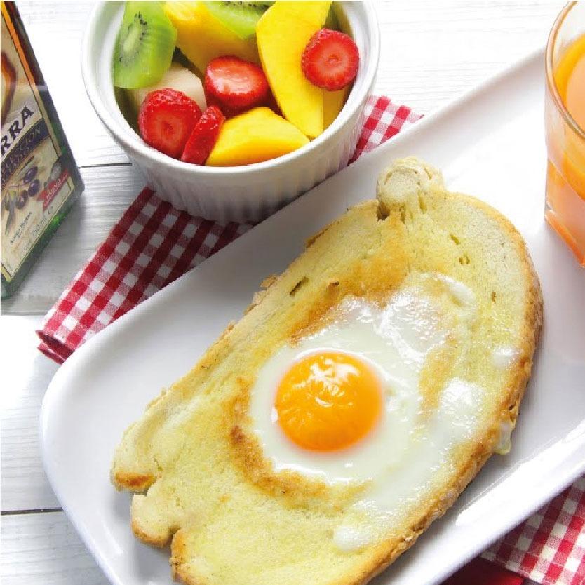 Desayuno saludable con aceite de oliva Virgen Extra