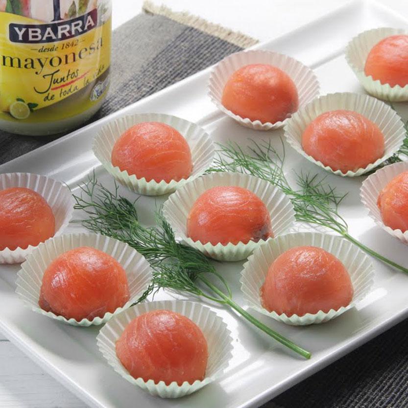 Bombones de salmón