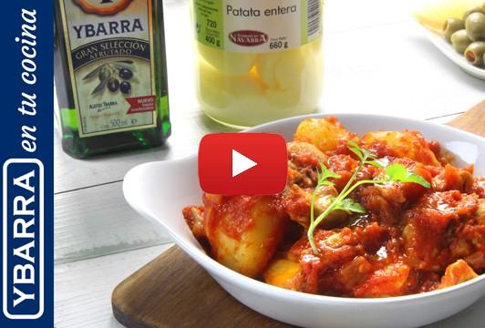 Conejo con tomate y patatas Ybarra