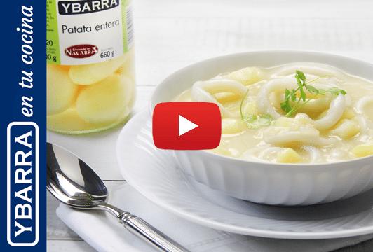 Calamares en salsa con patatas Ybarra