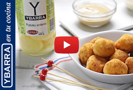 Bolitas de patatas Ybarra y queso