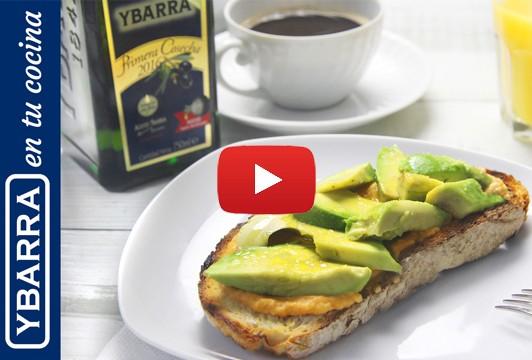 Desayuno con aceite Virgen Extra Primera Cosecha: tostada con aguacate