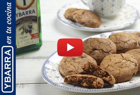 Cookies de chocolate y aceite de oliva Virgen Extra Ybarra