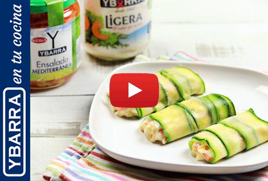 Canelones de calabacín y verduras Ybarra