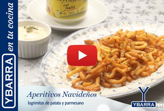 Lagrimitas de patata Ybarra y parmesano
