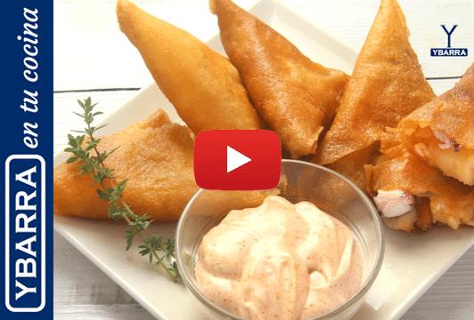 Samosas pulpo y patatas Ybarra al pimentón