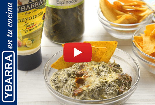 Dip de espinacas queso y mayonesa Ybarra
