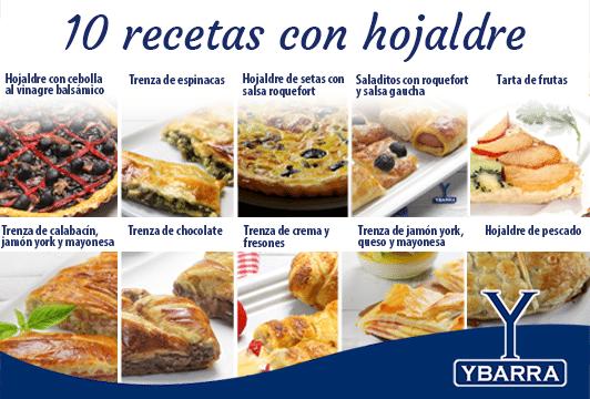 10 recetas con hojaldre Ybarra