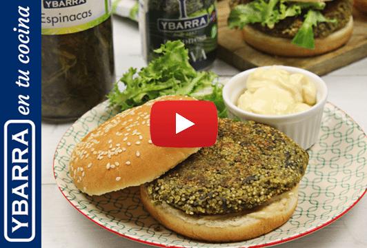 Hamburguesa de quinoa y espinacas Ybarra