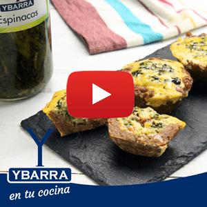 Cupcakes de carne y espinacas Ybarra