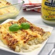 Canelones de merluza y mayonesa