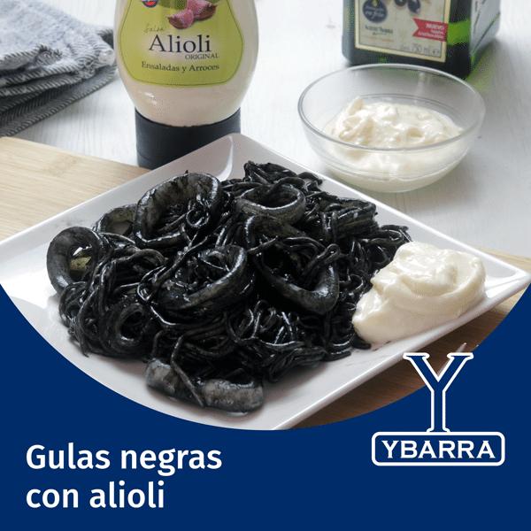 Gulas negras con Alioli