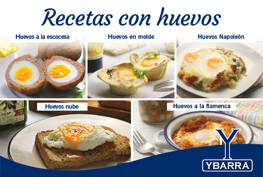 Recetas con huevos - huevos nube