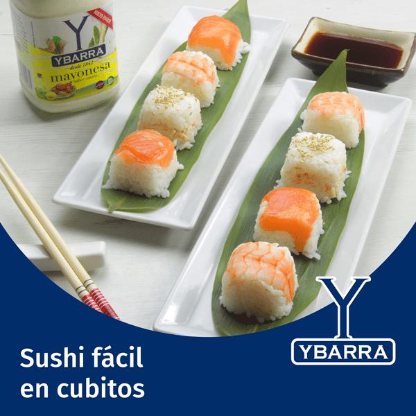 Sushi fácil en cubitos