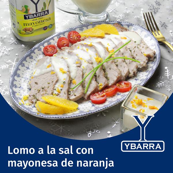 Lomo a la sal con mayonesa de naranja