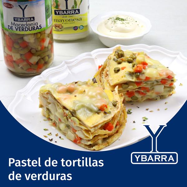 Pastel de tortillas de verduras