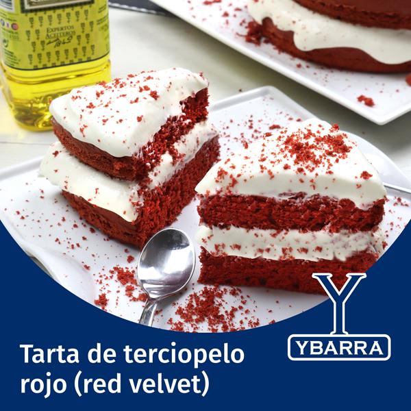 Tarta de terciopelo rojo (red velvet)