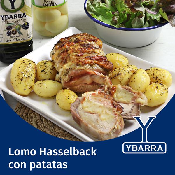 Lomo Hasselback con patatas al horno