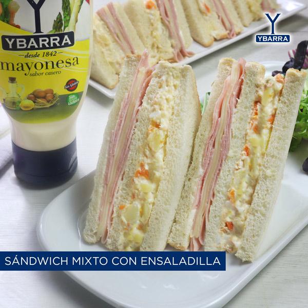 Sándwich mixto con ensaladilla