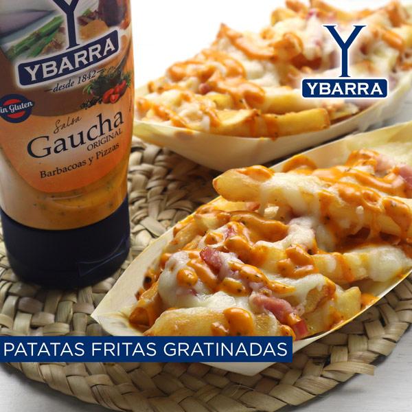 Patatas fritas gratinadas con gaucha