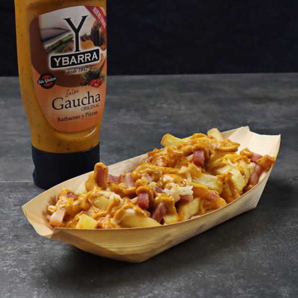 Patatas Gaucha con bacon y queso
