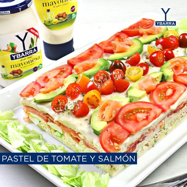 Pastel de tomate y salmón