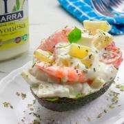 aguacate relleno con mayonesa Ybarra