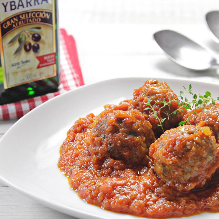 albondigas con tomate Ybarra