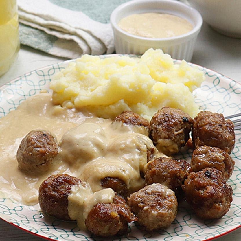 Albóndigas con salsa sueca