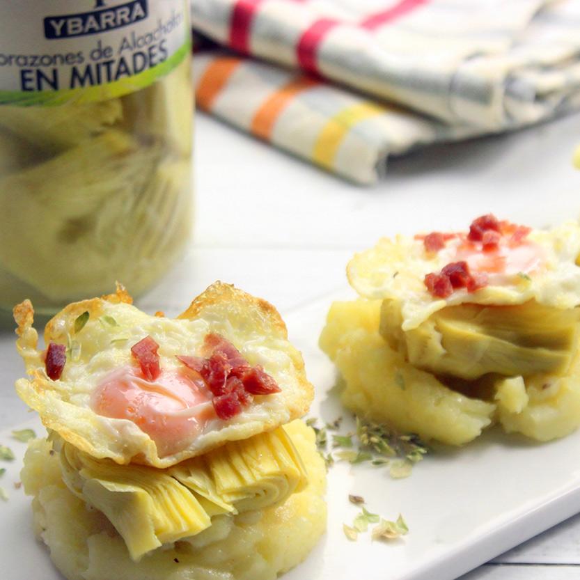 aperitivo de alcachofas y patata Ybarra